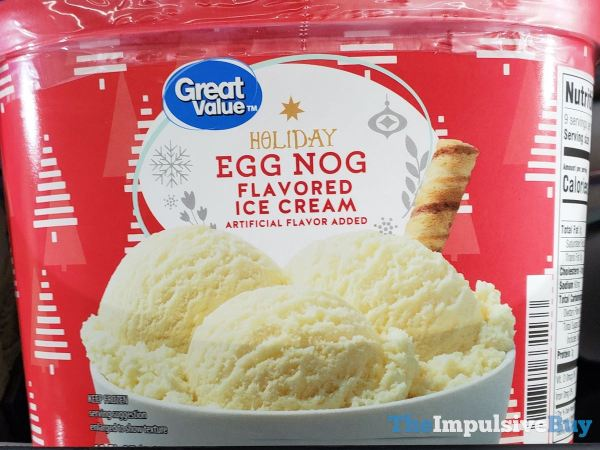 Great Value Holiday Egg Nog Flavored Ice Cream
