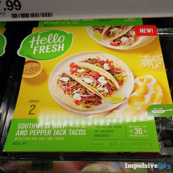 Hello Fresh Southwest Beef and Pepper Jack Tacos