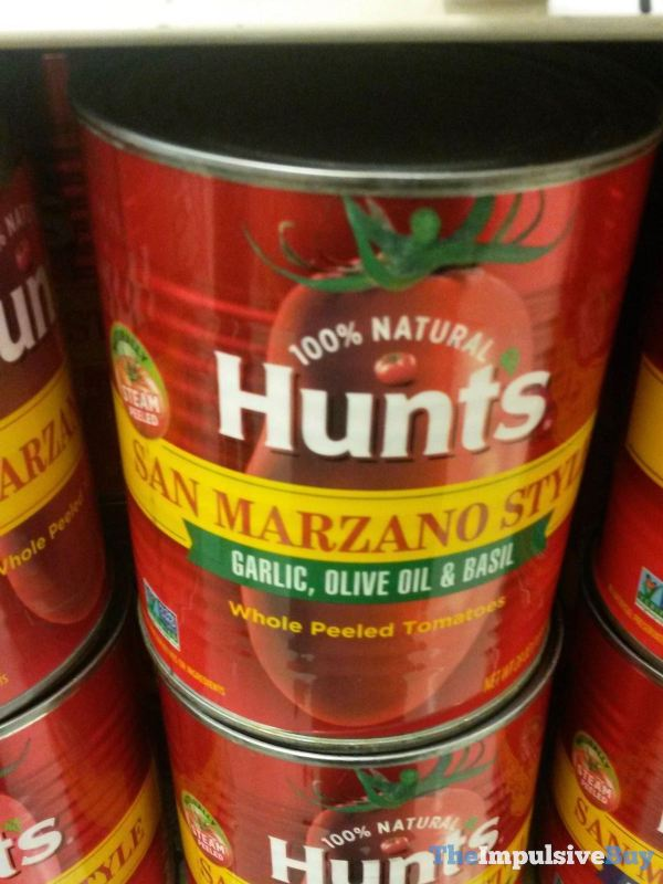 Hunts San Marzano Style Garlic Olive Oil  Basil Tomatoes