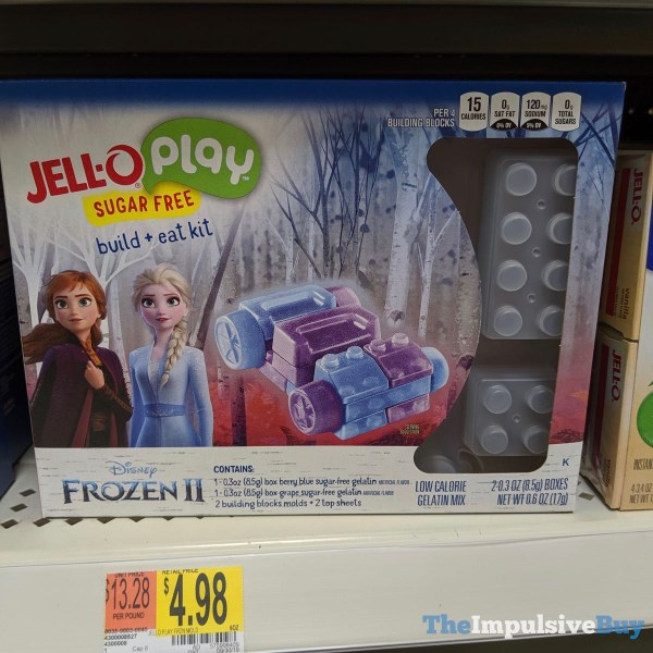 Jell O Play Disney Frozen II Sugar Free Build  Eat Kit
