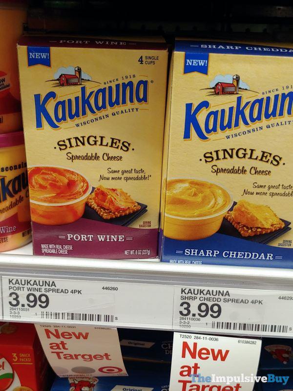 Kaukauna Singles Spreadable Cheese  Port Wine and Sharp Cheddar