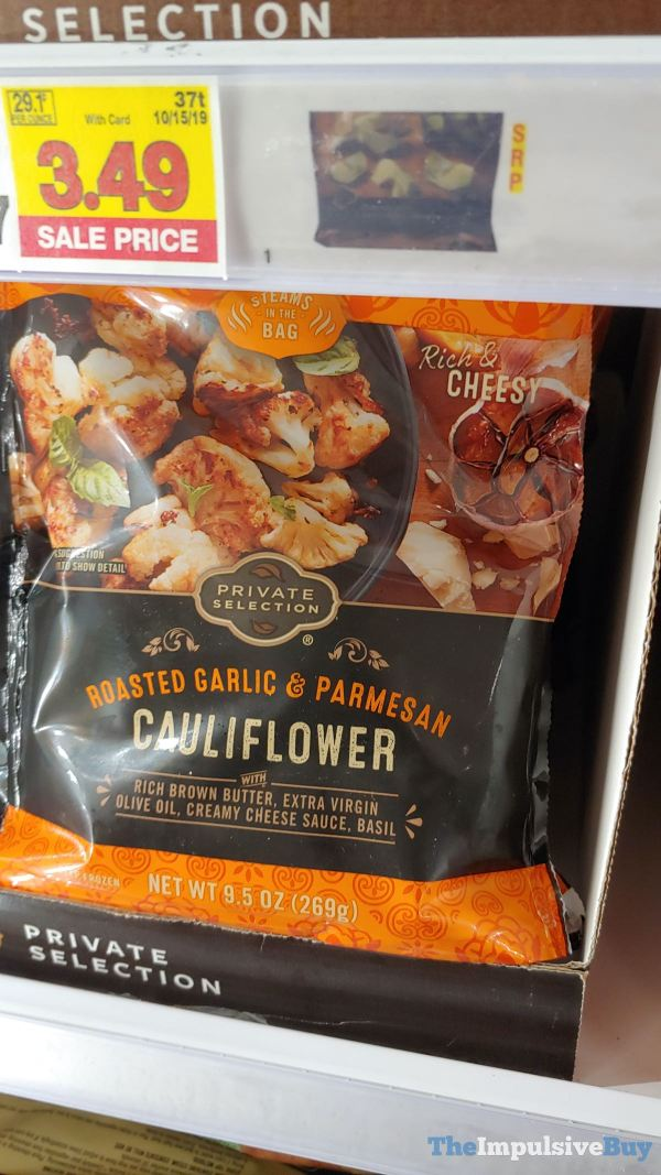 Kroger Private Selection Roasted Garlic  Parmesan Cauliflower
