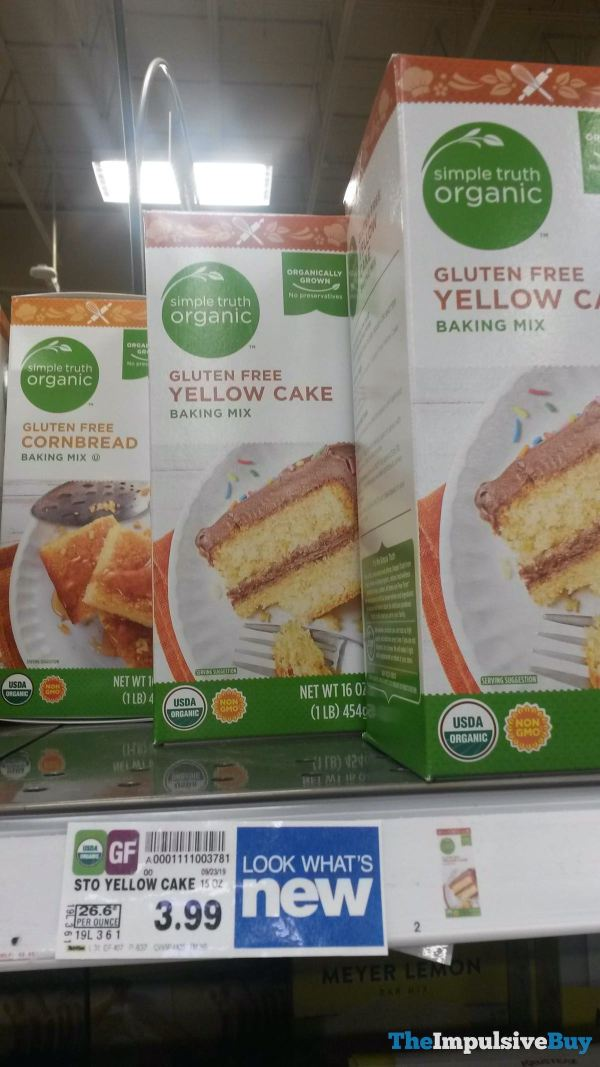 Kroger Simple Truth Organic Gluten Free Yellow Cake Baking Mix