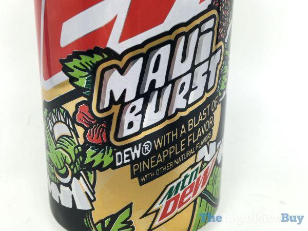 Mountain Dew Maui Burst Can Closeup
