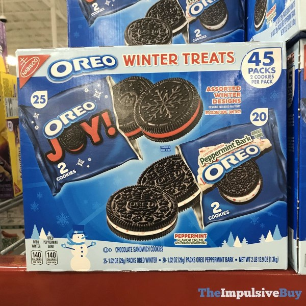 Oreo Winter Treats Assorted Winter Designs and Limited Edition Peppermint Bark