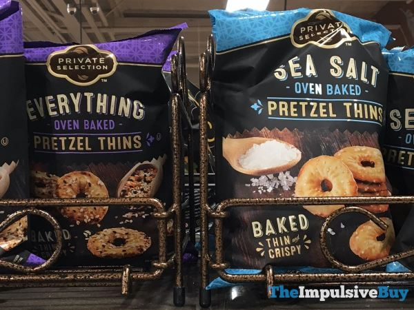 Private Selection Everything and Sea Salt Oven Baked Pretzel Thins