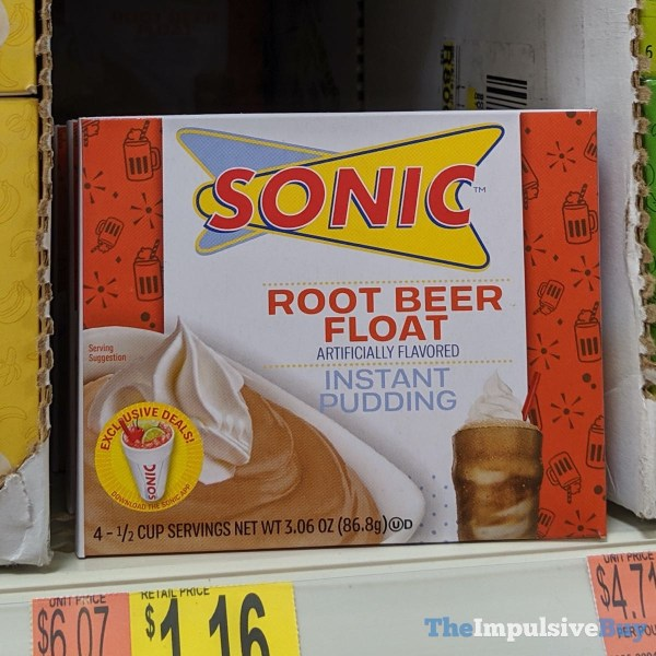 Sonic Root Beer Float Instant Pudding