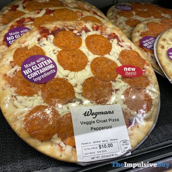 Wegmans Veggie Crust Pepperoni Pizza