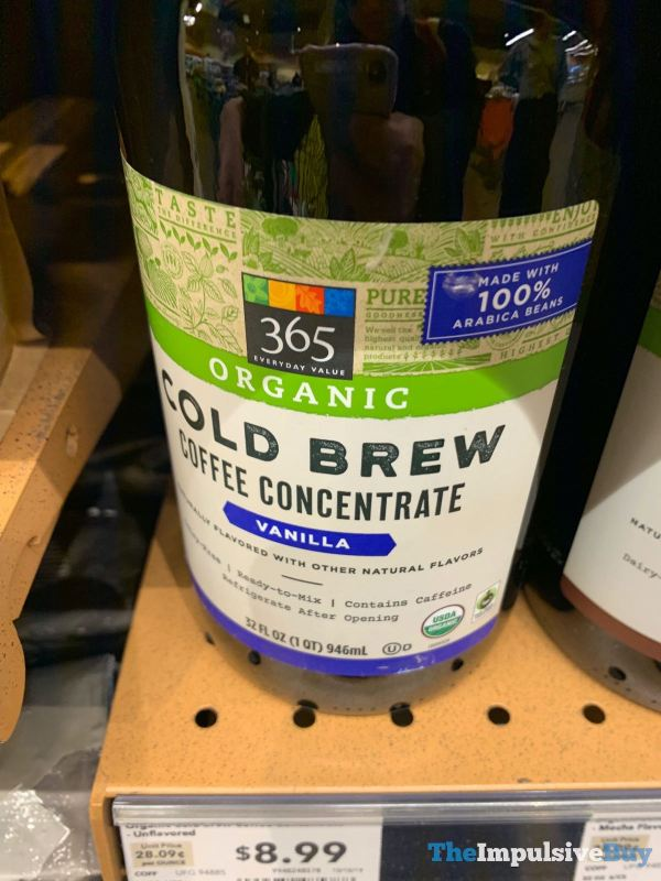 365 Everyday Value Organic Vanilla Cold Brew Coffee Concentrate
