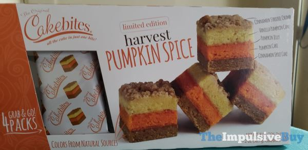 Cakebites Limited Edition Harvest Pumpkin Spice