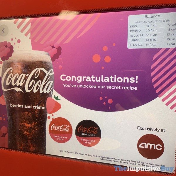Coke Freestyle Coca Cola Berries and Creme