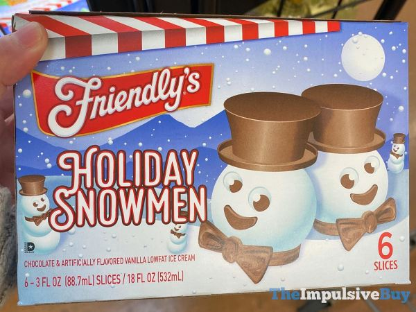 Friendly s Holiday Snowmen Ice Cream