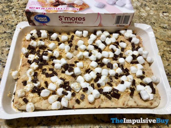 Great Value S mores Dessert Pizza Raw