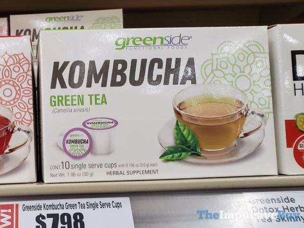 Greenside Kombucha Detox Green Tea