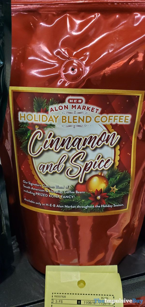 H E B Alon Market Holiday Blend Coffee Cinnamon and Spice