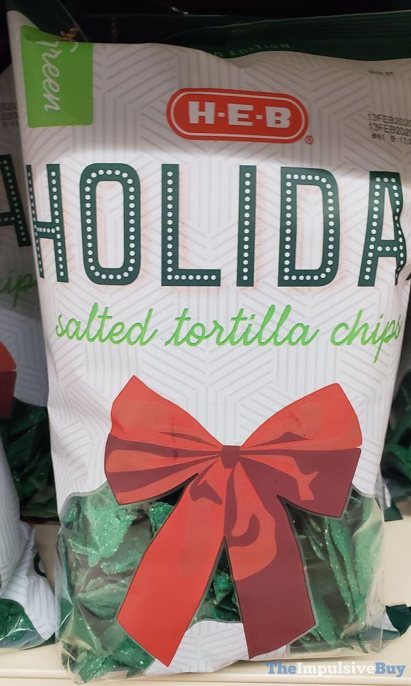 H E B Green Holiday Salted Tortilla Chips
