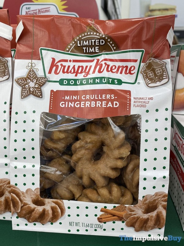 Krispy Kreme Gingerbread Mini Crullers