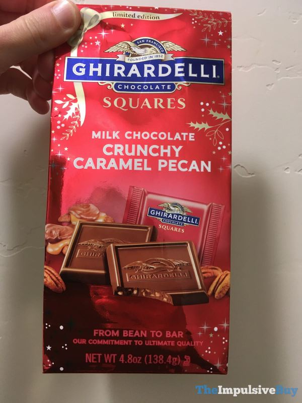 Limited Edition Ghirardelli Milk Chocolate Crunchy Caramel Pecan Squares