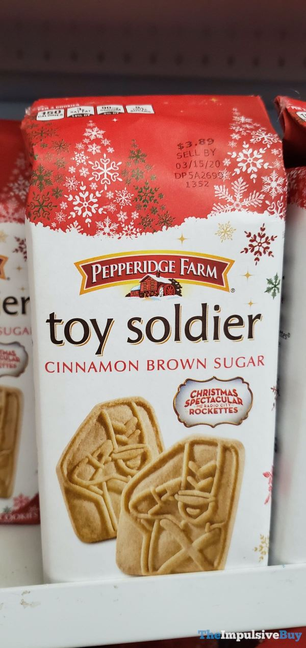 Pepperidge Farm Toy Soldier Cinnamon Brown Sugar Cookies