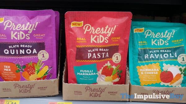 Presty Kids Plate Ready Tex Mex Quinoa Fusilli Marinara Pasta and Marinara  Cheese Ravioli