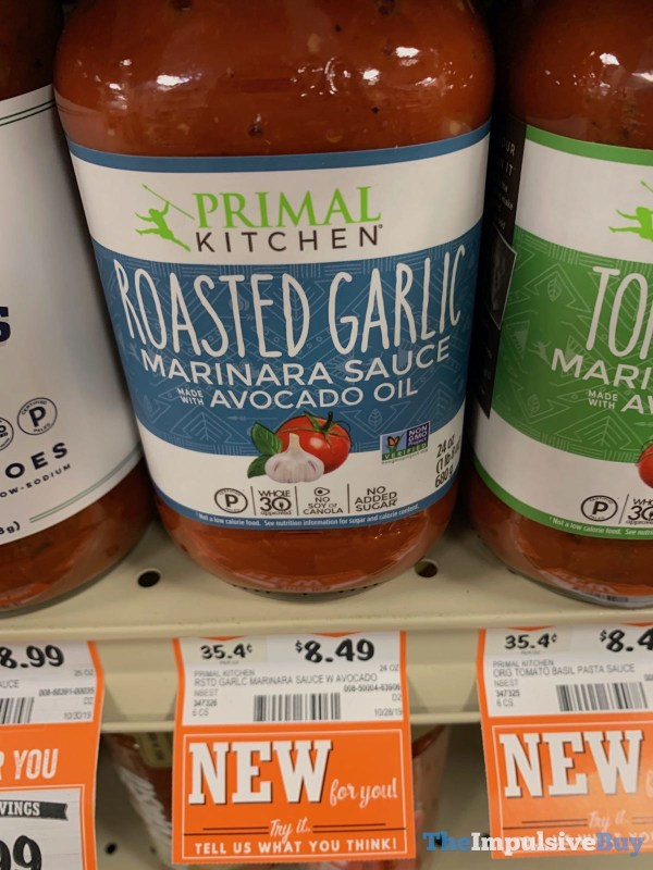 Primal Kitchen Roasted Garlic Marinara Sauce