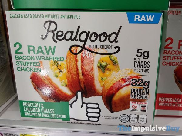 Realgood Broccoli  Cheddar Cheese Bacon Wrapped Stuffed Chicken