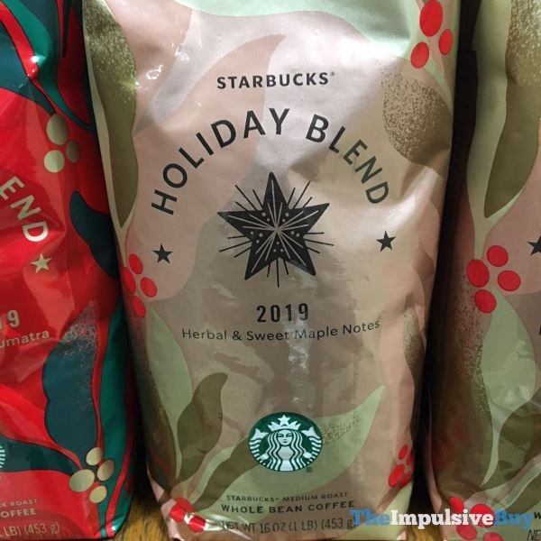Starbucks Holiday Blend 2019 Herbal  Sweet Maple Notes