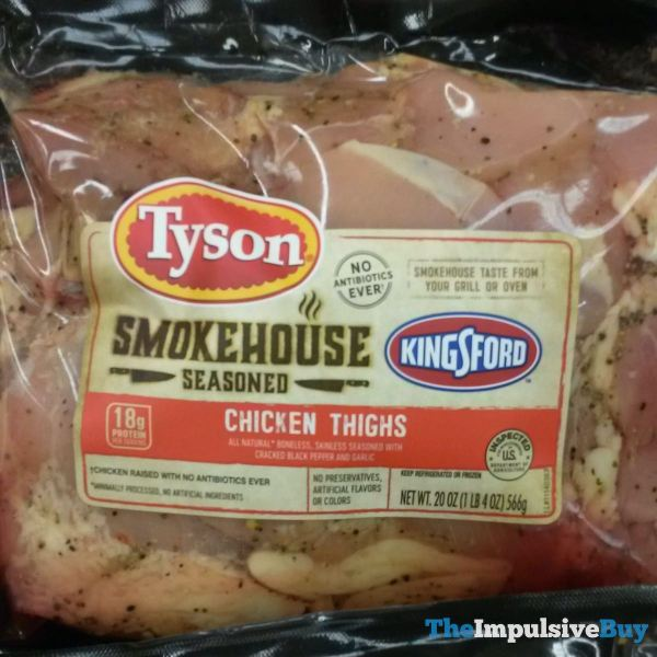 Tyson Kingsford Smokehouse Seasoned Chicken Thighs