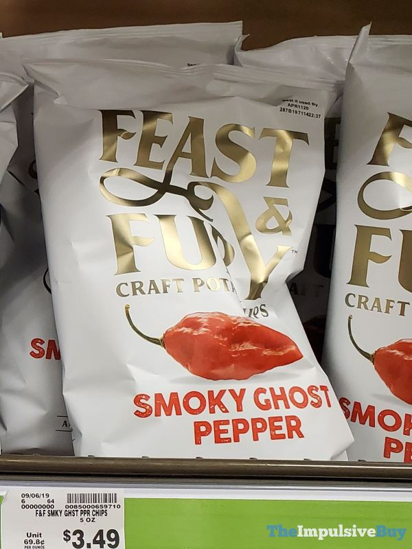 Feast  Fury Smoky Ghost Pepper Craft Potato Chips