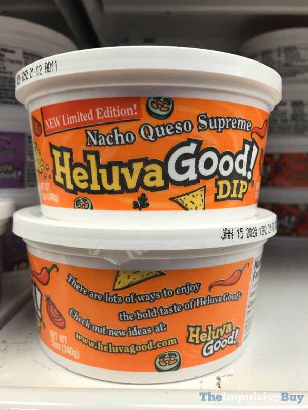 Limited Edition Nacho Queso Supreme Heluva Good Dip