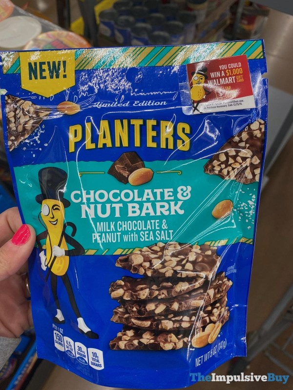 Limited Edition Planters Chocolate  Nut Bark
