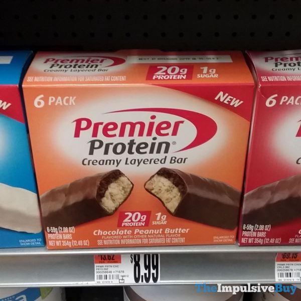 Premier Protein Chocolate Peanut Butter Creamy Layered Bar