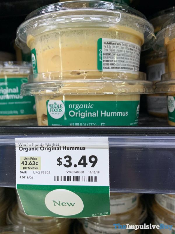 Whole Foods Organic Original Hummus