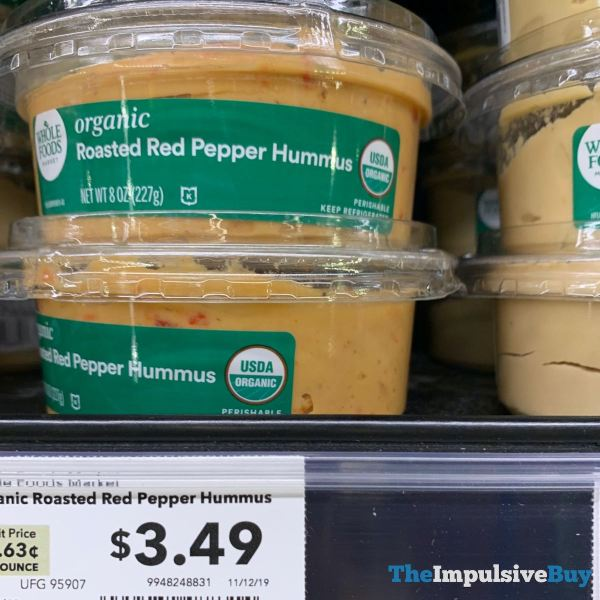 Whole Foods Organic Roasted Red Pepper Hummus