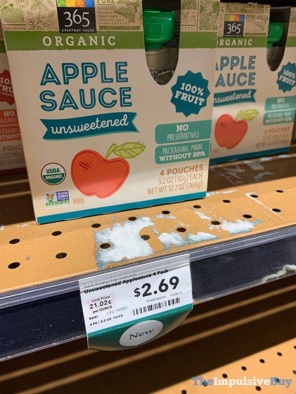 365 Everyday Value Organic Unsweetened Apple Sauce