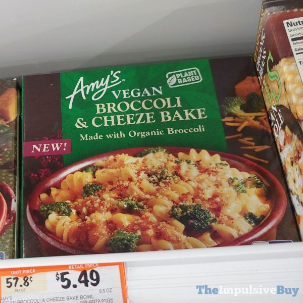 Amy s Plant Based Vegan Broccoli  Cheeze Bake