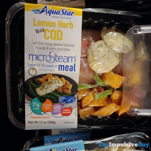 Aqua Star Lemon Herb Wild Cod MicroSteam Meal
