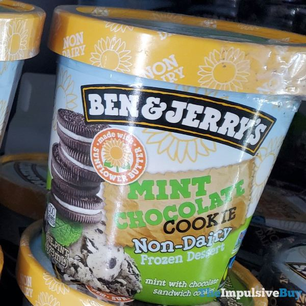 Ben  Jerry s Mint Chocolate Cookie Non Dairy Frozen Dessert made with Sunflower Butter