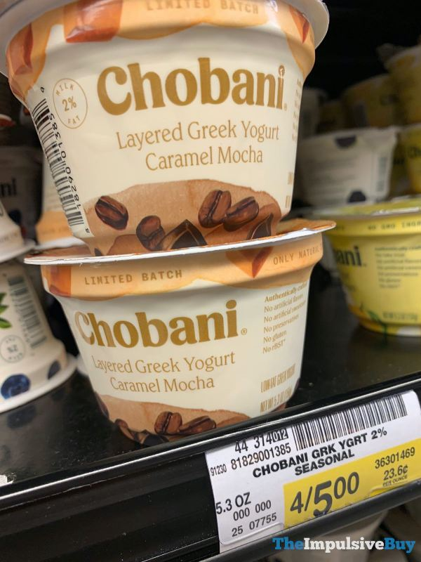 Chobani Limited Batch Caramel Mocha Layered Greek Yogurt