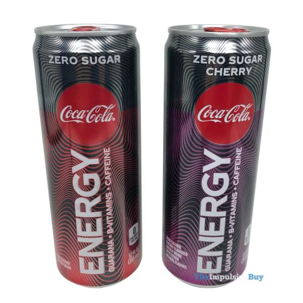 Coca-Cola Energy Zero Sugar and Zero Sugar Cherry