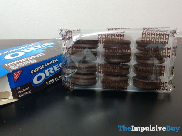 Dark Chocolate Fudge Covered Oreo Cookies Package