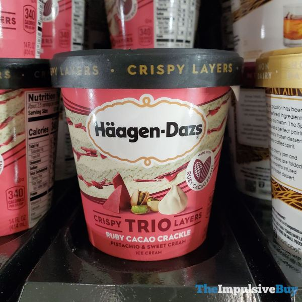 Haagen Dazs Ruby Cacao Crackle Trio Ice Cream