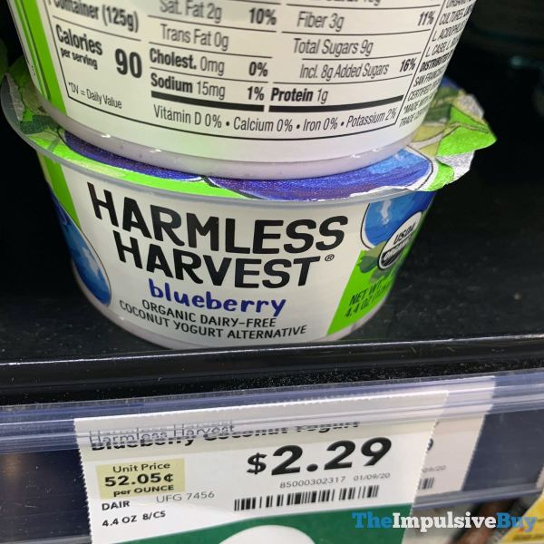 Harmless Harvest Blueberry Coconut Yogurt Alternative