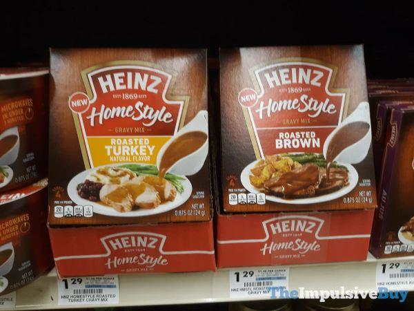 Heinz Homestyle Gravy Mixes  Roasted Turkey and Roasted Brown