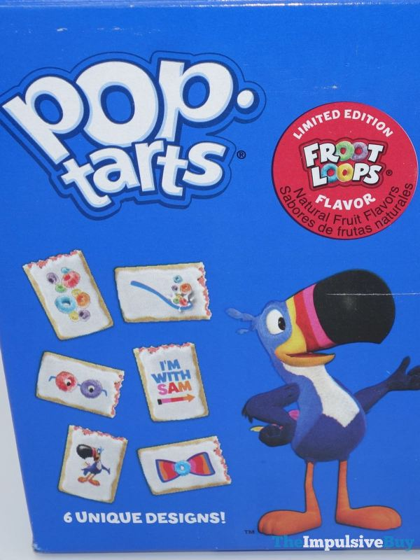 Limited Edition Froot Loops Pop Tarts Back of Box