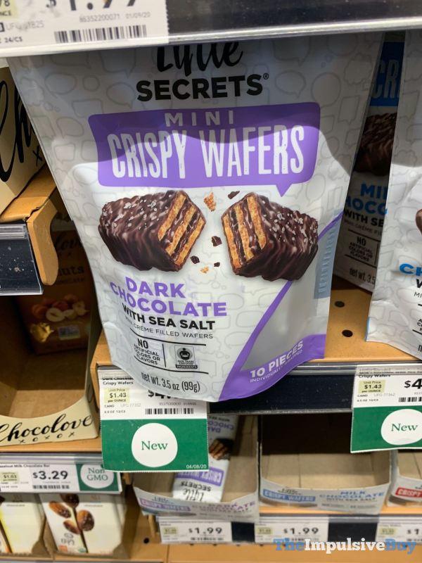 Little Secrets Dark Chocolate with Sea Salt Mini Crispy Wafers