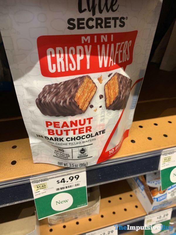 Little Secrets Peanut Butter in Dark Chocolate Mini Crispy Wafers