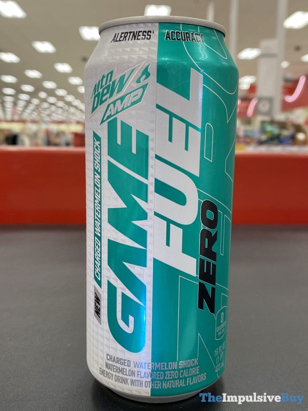 Mtn Dew Amp Game Fuel Zero Charged Watermelon Shock