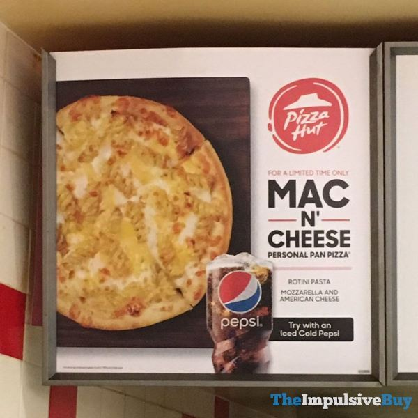 Pizza Hut Mac N Cheese Personal Pan Pizza