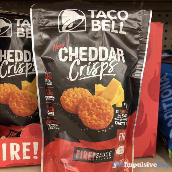 Taco Bell Fire Sauce Flavored Cheddar Crisps